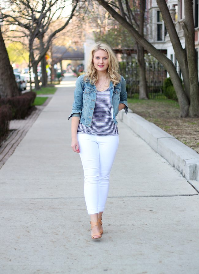 Denim // White Jeans | Caravan of Style