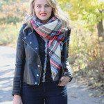 blanket scarf, blanket plaid scarf, knit a blanket, plaid scarf, zara scarf, zara scarf blanket