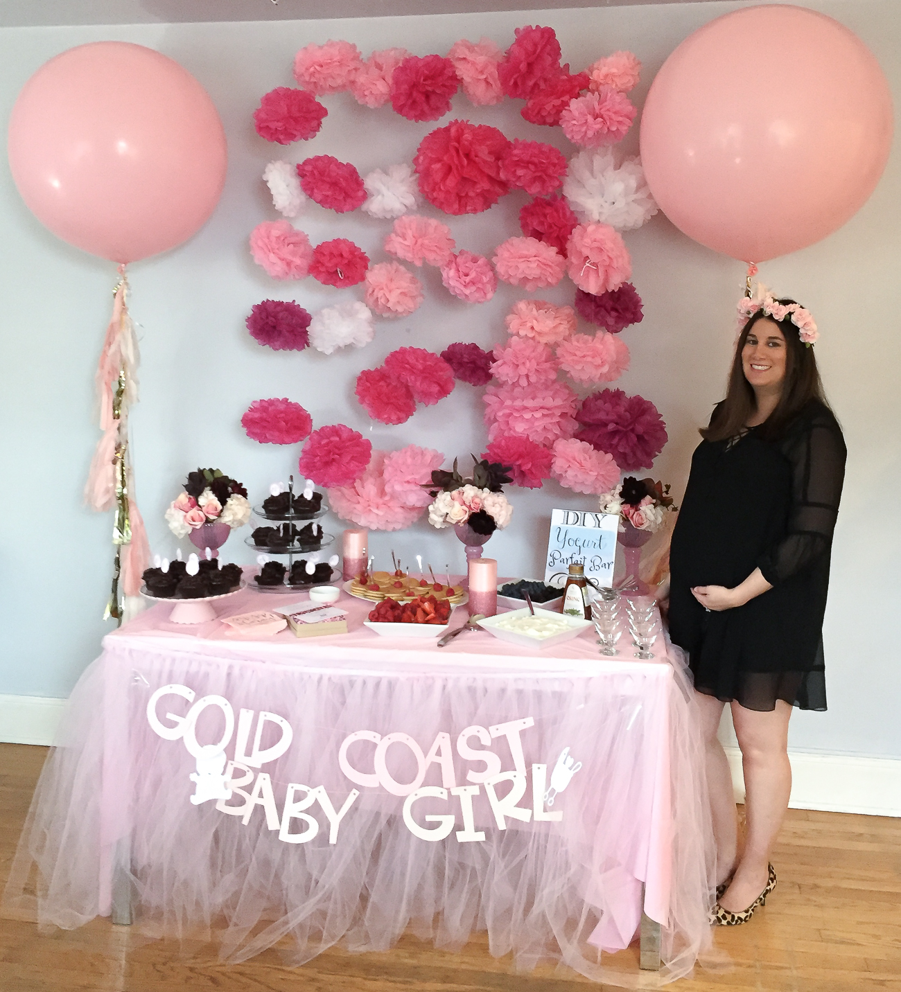 all leopard and pink baby shower with baby mama