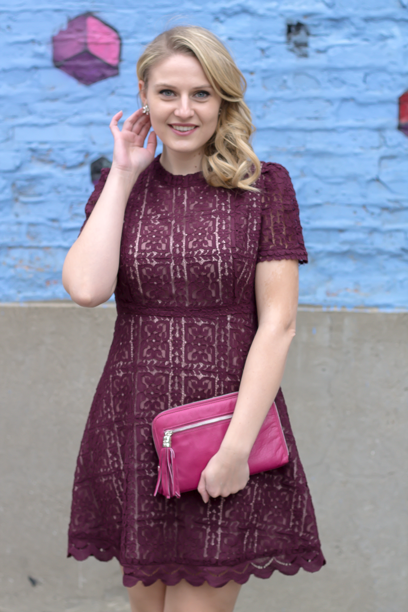 How to wear a lace dress and not look girly