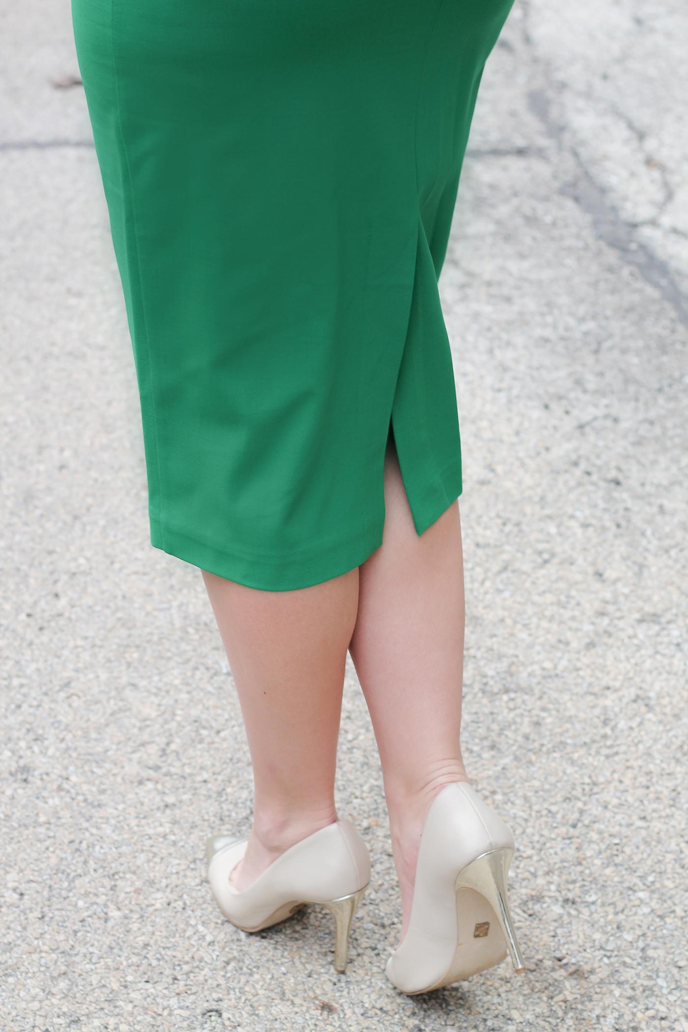 Anne Klein pumps with a DVF dress