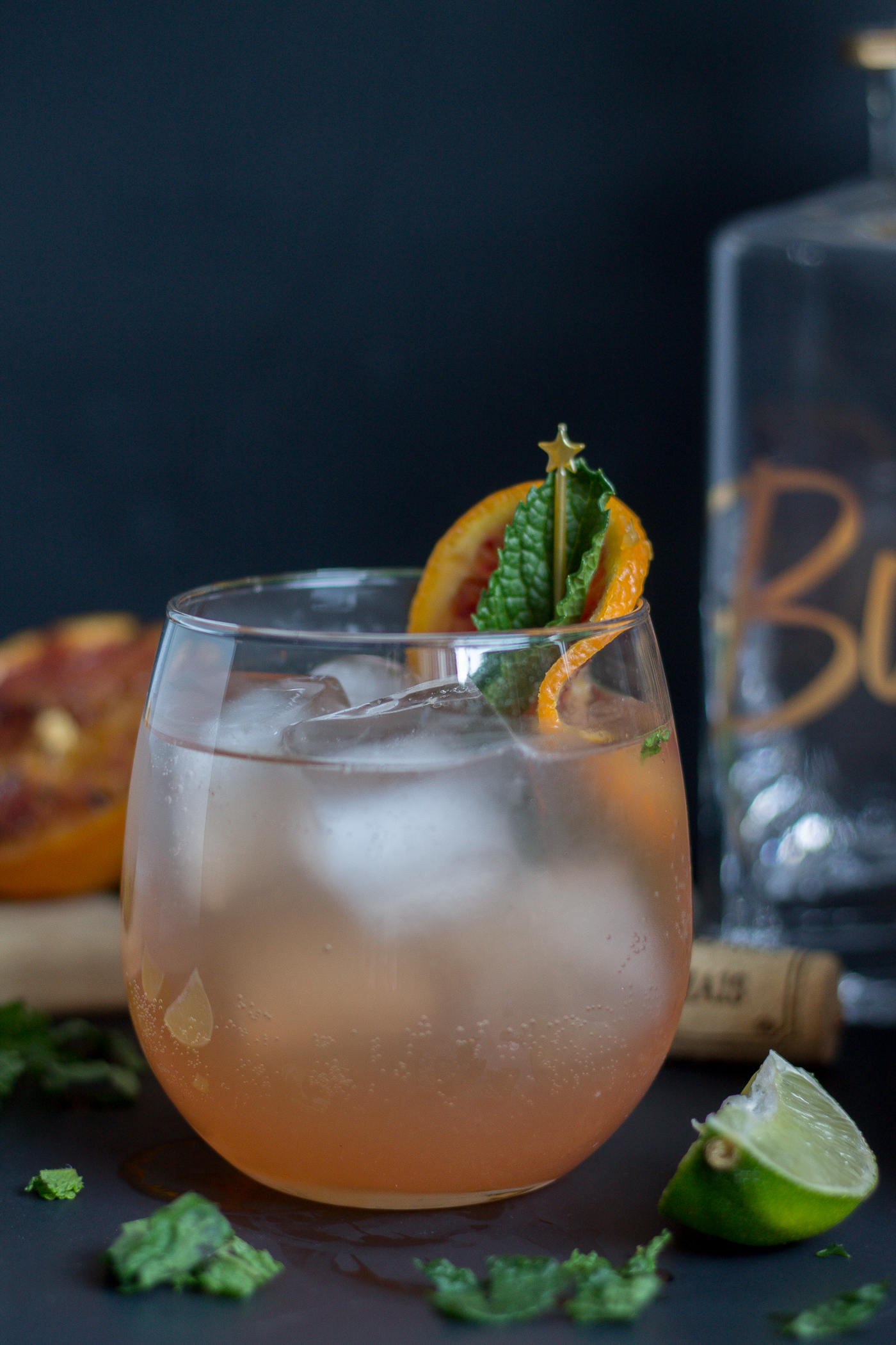 A batch cocktail recipe -Grilled Citrus Rosé Wine Sangria
