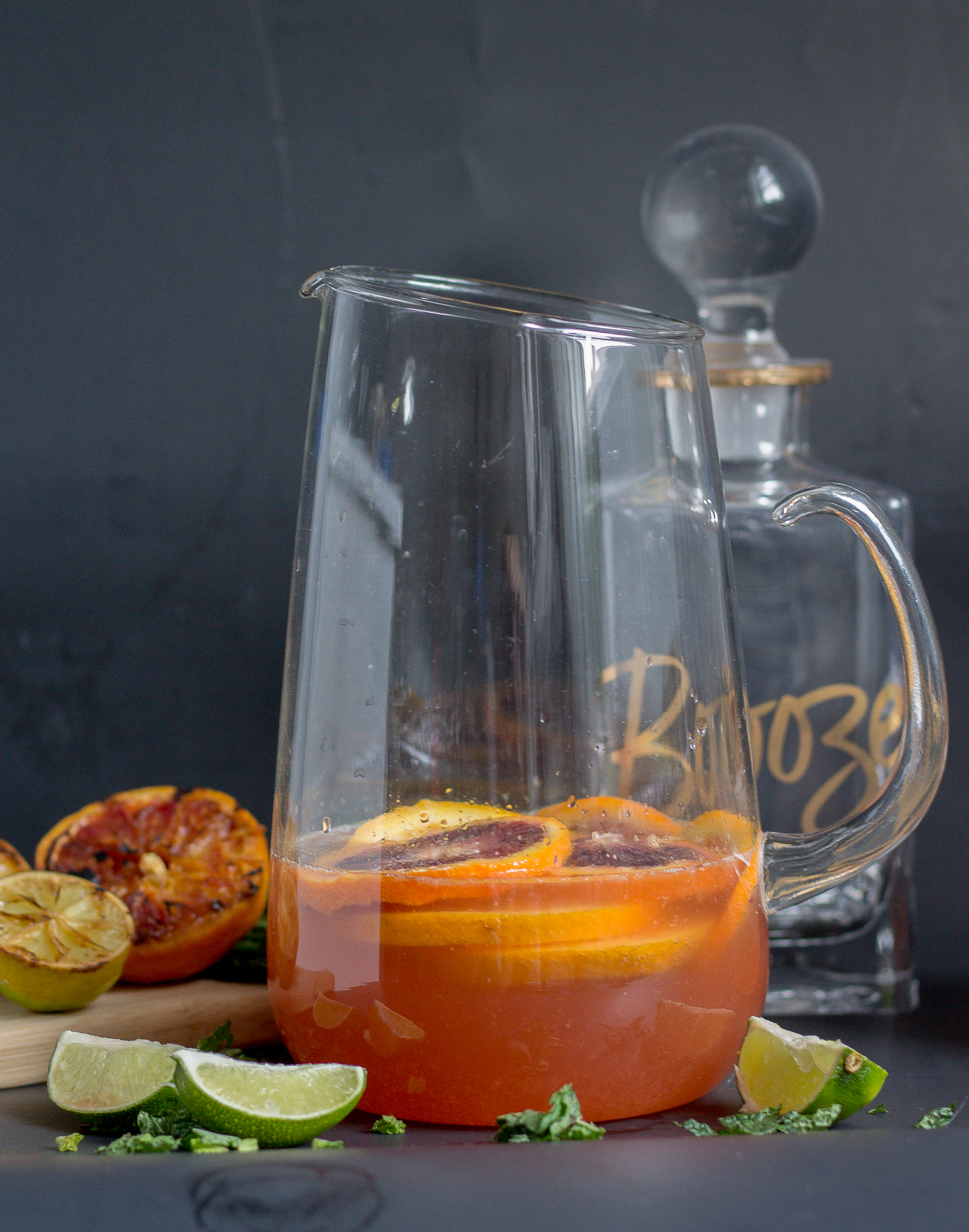 Grilled Citrus Rosé Wine Pitcher Cocktail
