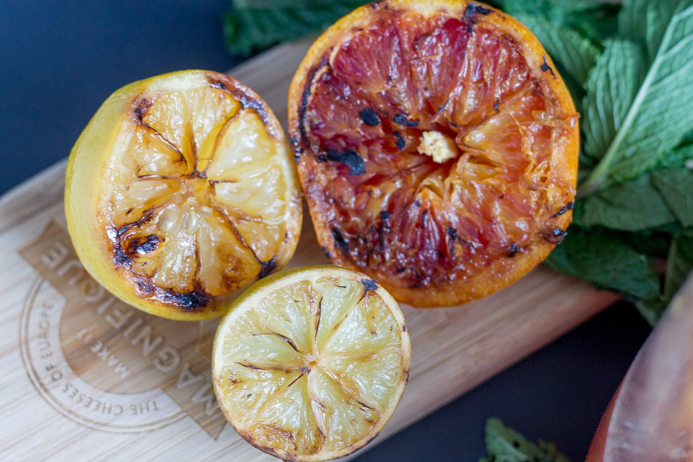 grilled citrus fruit