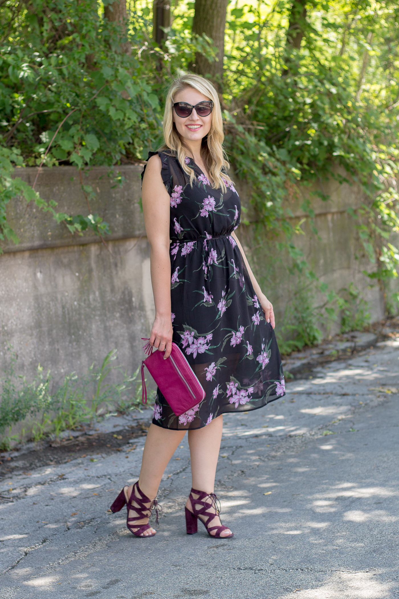 A floral dress for those hot summer nights